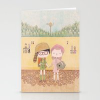 moonrise kingdom Stationery Cards featuring moonrise kingdom by yohan sacre