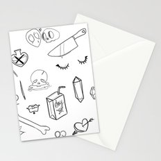 creepy cute witchy pattern Stationery Cards