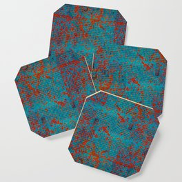 Turquoise with Red Coaster