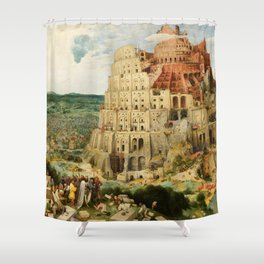 The Tower of Babel 1563 Shower Curtain