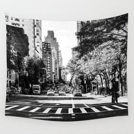 New York City Streets Contrast Wall Tapestry