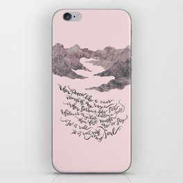 It Is Well With My Soul -pink&grey iPhone Skin