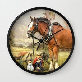 Ploughmans Lunch Wall Clock