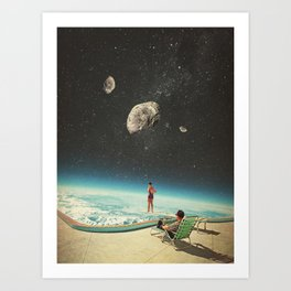 Summer with a Chance of Asteroids Art Print