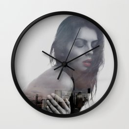 lonely in the city Wall Clock