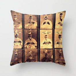 Handy Mugshots Throw Pillow