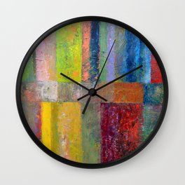 Color Panel Abstract lll Wall Clock