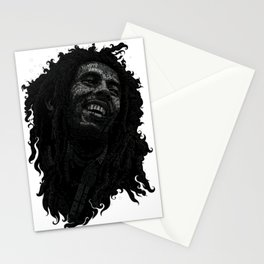 Tuff Gong Marley Text Art Stationery Cards