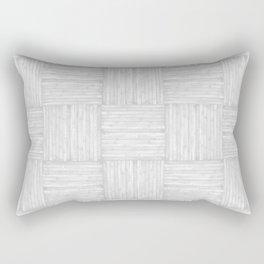White Faux Bois Wood Pattern Rectangular Pillow