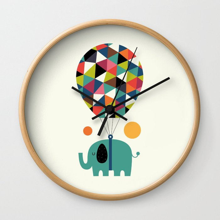 Fly High And Dream Big Wall Clock