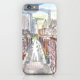 New York City Chinatown View of Manhattan iPhone Case