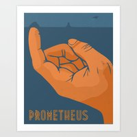 prometheus Art Prints featuring Prometheus by beware1984