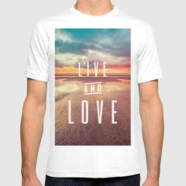 Live and Love beach text T-shirt