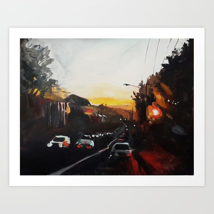 Sunset on West 18th Art Print