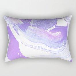 Shades of Purple Brush Stroke pattern #abstractart Rectangular Pillow