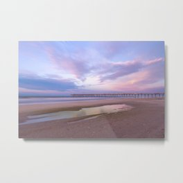 Pastel Sky, Beach Sunrise Metal Print