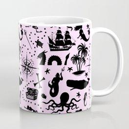 High Seas Adventure // Pink Coffee Mug
