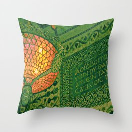 Chicago Cultural Center ~ architecture tiffany lamp detail Throw Pillow