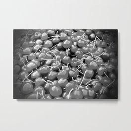 cherries pattern reacbw Metal Print