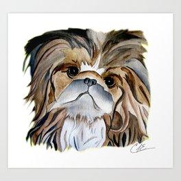 Pekingese Dog Love Dogs Art Print