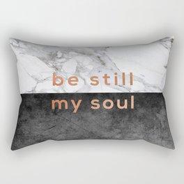 Be Still My Soul Copper Rectangular Pillow