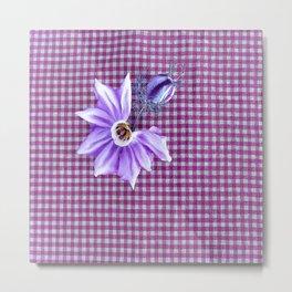 alpin flower pattern Metal Print