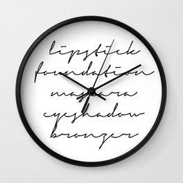 makeup words Wall Clock