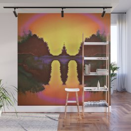 Electric Fountain Wall Mural