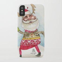 Steampunk Santa iPhone Case