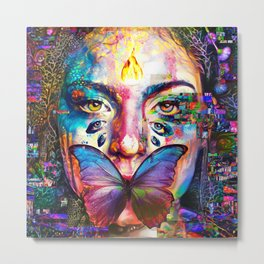 She was silenced Metal Print