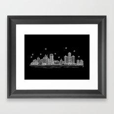 Detroit, Michigan City Skyline Framed Art Print