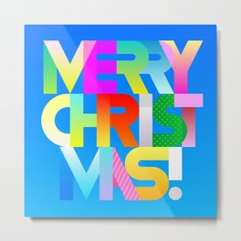 Merry Christmas decorative text Metal Print