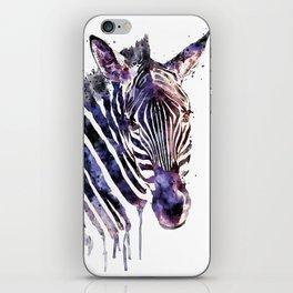 Zebra Head iPhone Skin