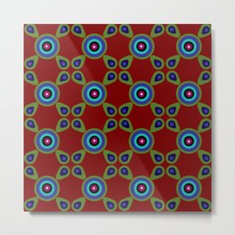Terracotta Red Olive Metal Print
