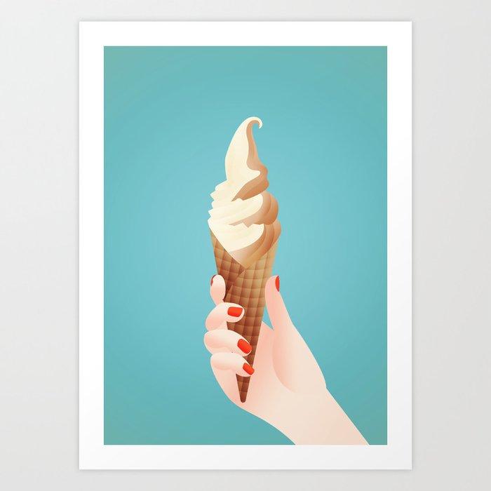 I scream, you scream Art Print