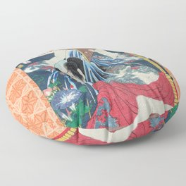 Japanese Kunisada Tattoo Warrior Print Floor Pillow