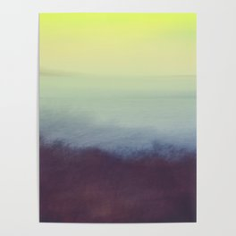 Coastal Landscape Abstract Poster