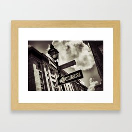 {one day} Framed Art Print