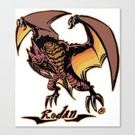 Rodan Kaiju Print FC Canvas Print