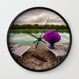 A fine day at the lake Wall Clock