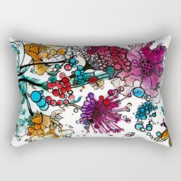 Floral watercolor abstraction Rectangular Pillow