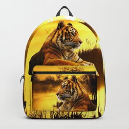 Tiger and Sunset Backpack