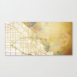 Boise Watercolor Map Canvas Print
