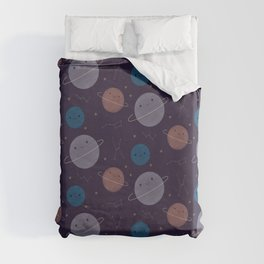 Kawaii Outer Space Duvet Cover