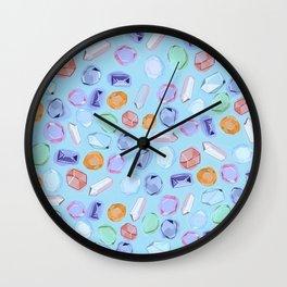 Rhinestones and crystals Wall Clock