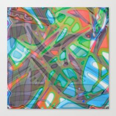 Colorful Abstract Stained Glass G299 Canvas Print