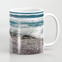 surf Mugs featuring Surf by Art-Motiva