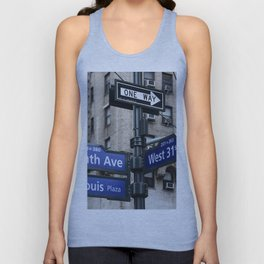 New York City Street Names Unisex Tank Top