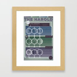 Improv Forms: The Harold (cool tones) Framed Art Print