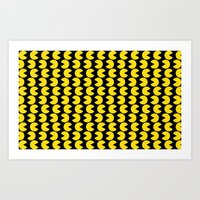 pac man Art Prints featuring Pac-Man by Jennifer Agu